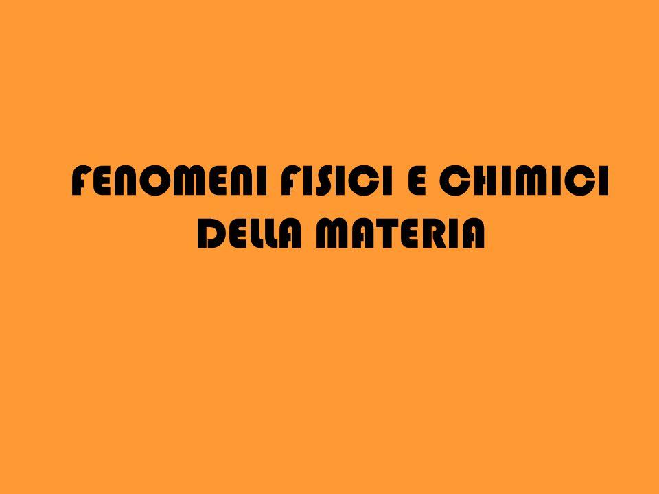 FENOMENI FISICI E CHIMICI DELLA MATERIA