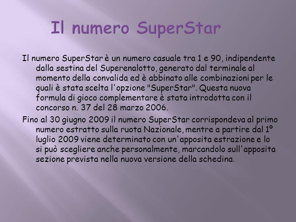 Il numero SuperStar