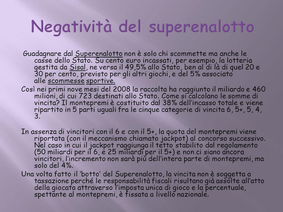 Negatività del superenalotto
