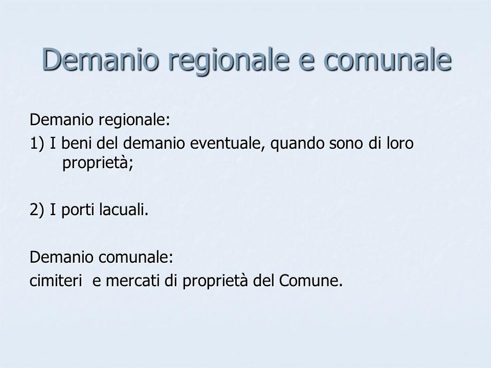Demanio regionale e comunale