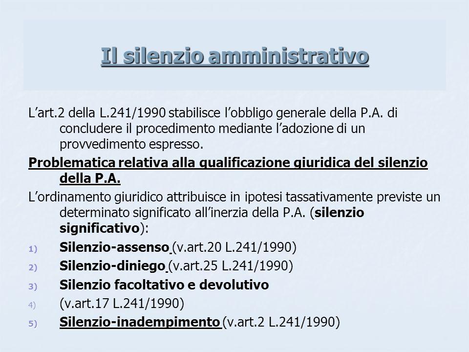 Il silenzio amministrativo