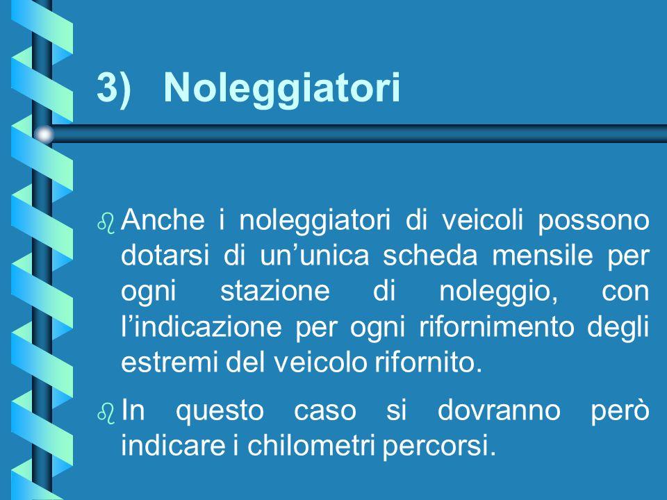 3) Noleggiatori