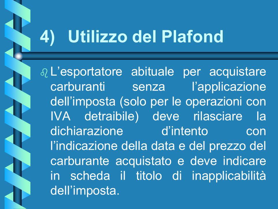 4) Utilizzo del Plafond