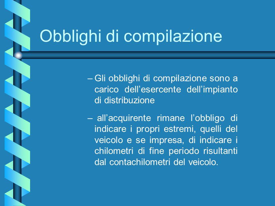 Obblighi di compilazione