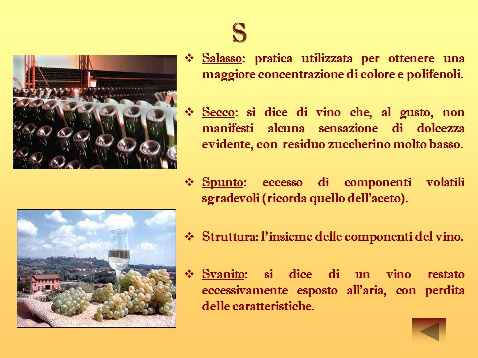 S Salasso: pratica utilizzata per ottenere una maggiore concentrazione di colore e polifenoli.