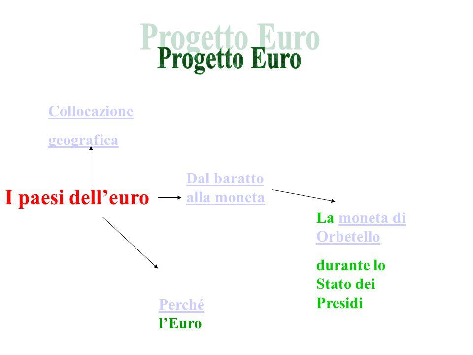 Progetto Euro I paesi dell'euro Collocazione geografica
