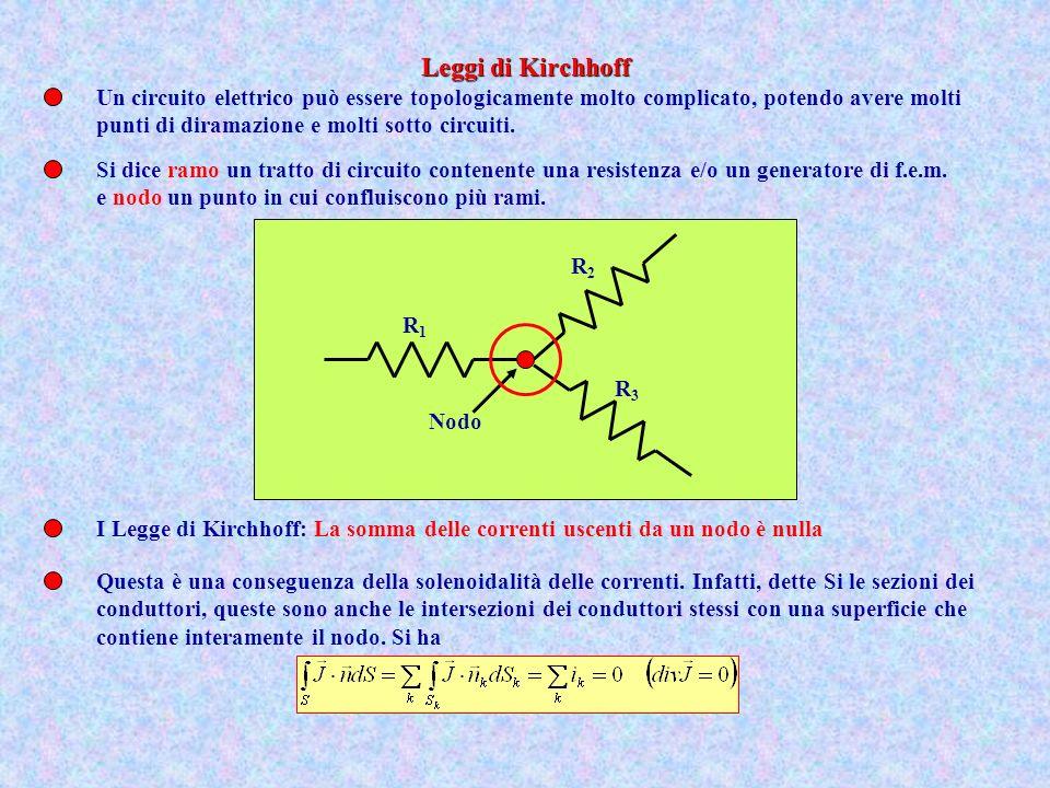 Leggi di Kirchhoff Un circuito elettrico può essere topologicamente molto complicato, potendo avere molti.