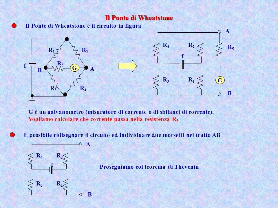 Il Ponte di Wheatstone Il Ponte di Wheatstone è il circuito in figura