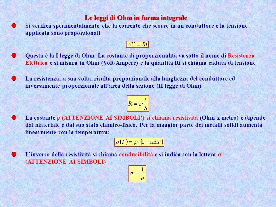 Le leggi di Ohm in forma integrale