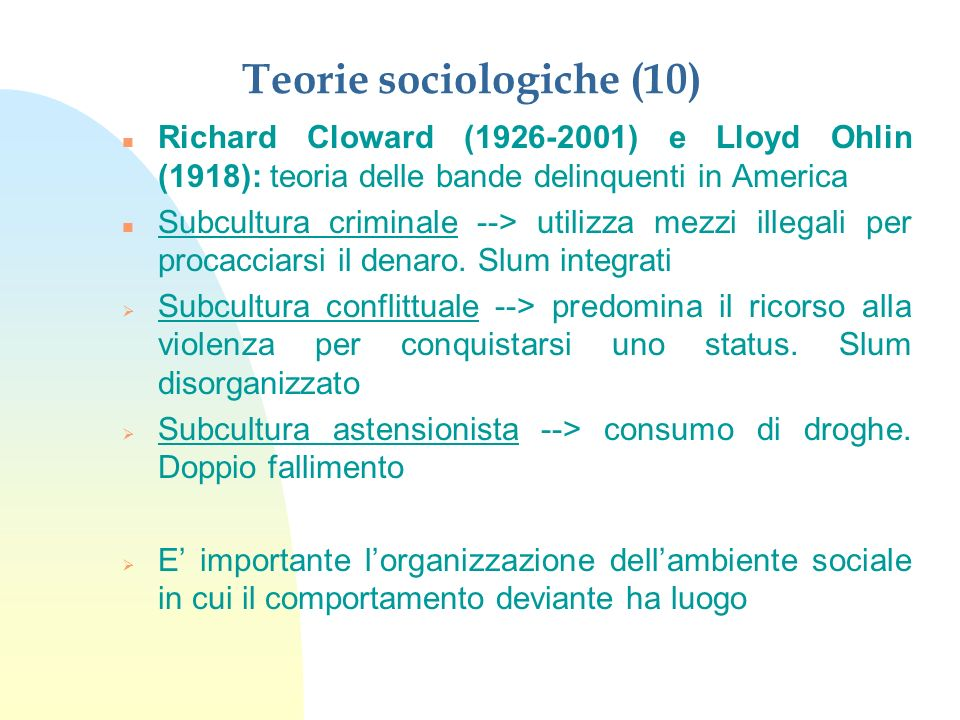 Teorie sociologiche (10)