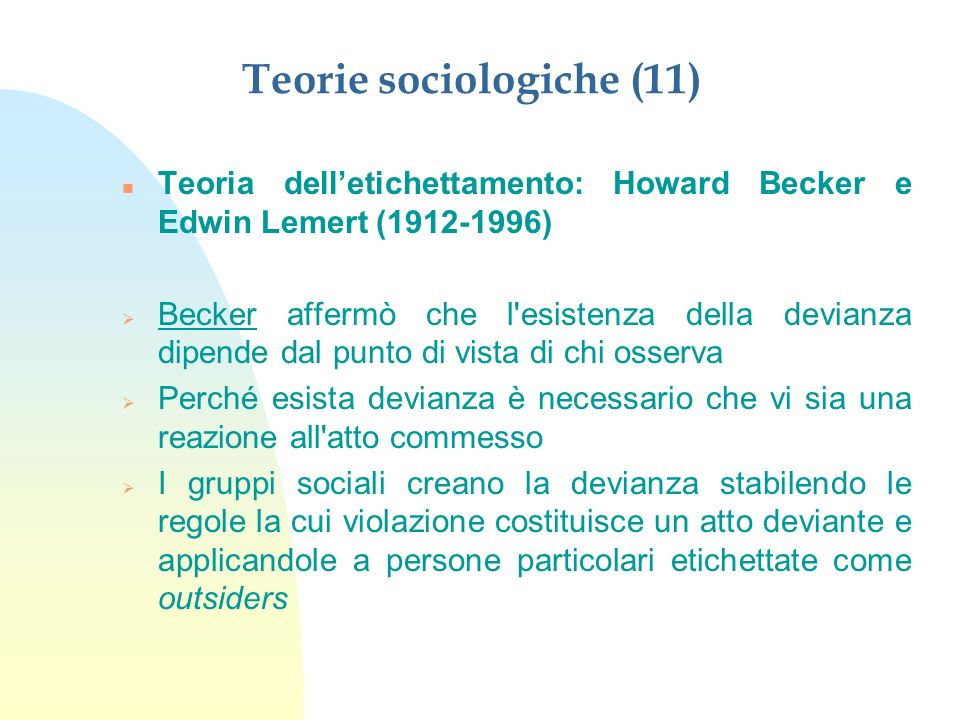 Teorie sociologiche (11)