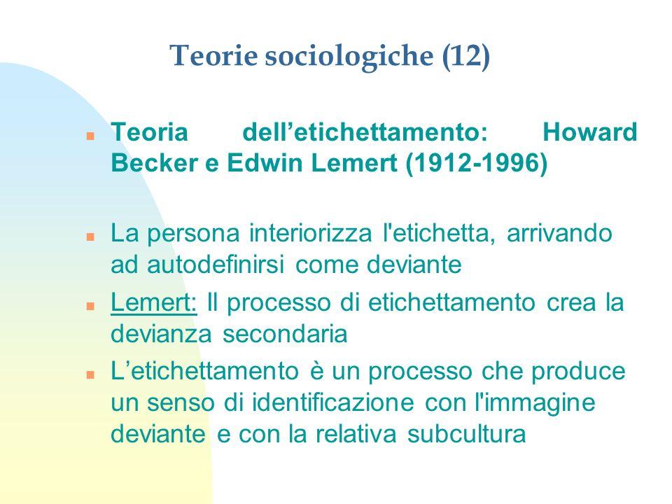 Teorie sociologiche (12)