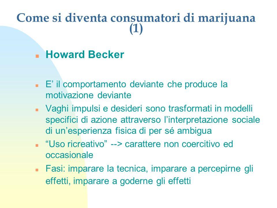 Come si diventa consumatori di marijuana (1)