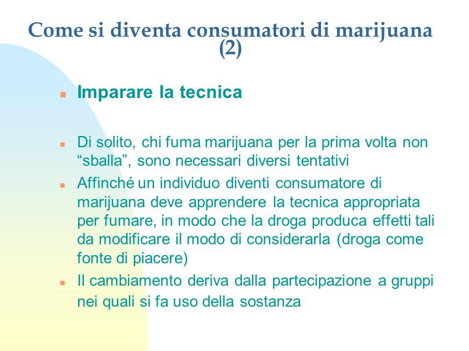 Come si diventa consumatori di marijuana (2)