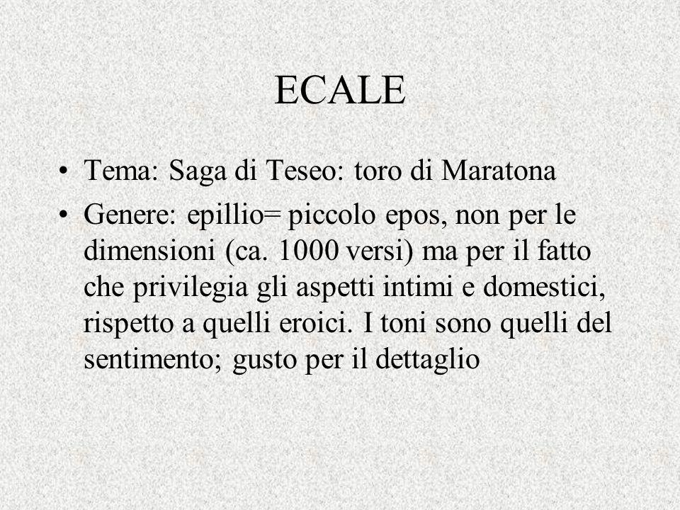 ECALE Tema: Saga di Teseo: toro di Maratona