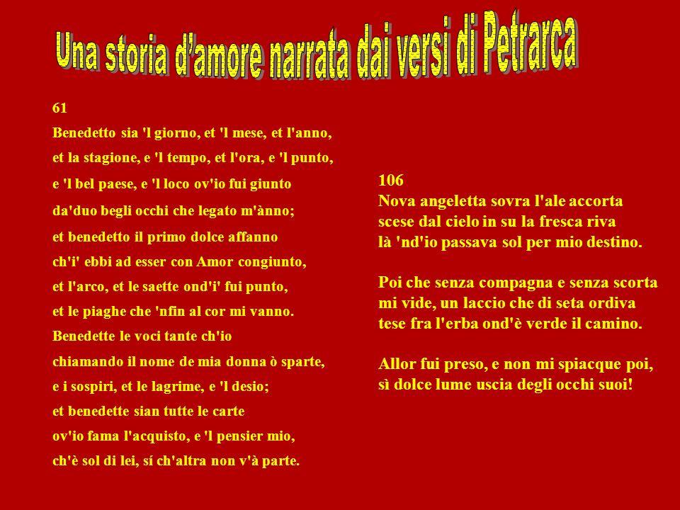 Una storia d'amore narrata dai versi di Petrarca