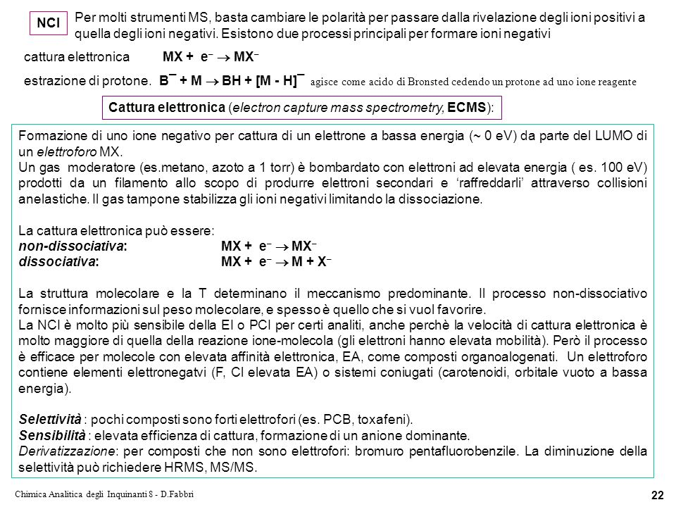 Chimica Analitica degli Inquinanti 8 - D.Fabbri