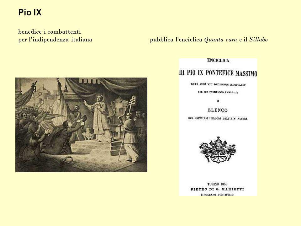Pio IX benedice i combattenti per l'indipendenza italiana