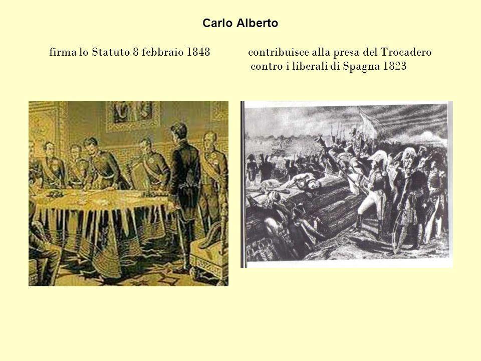 Carlo Alberto firma lo Statuto 8 febbraio 1848