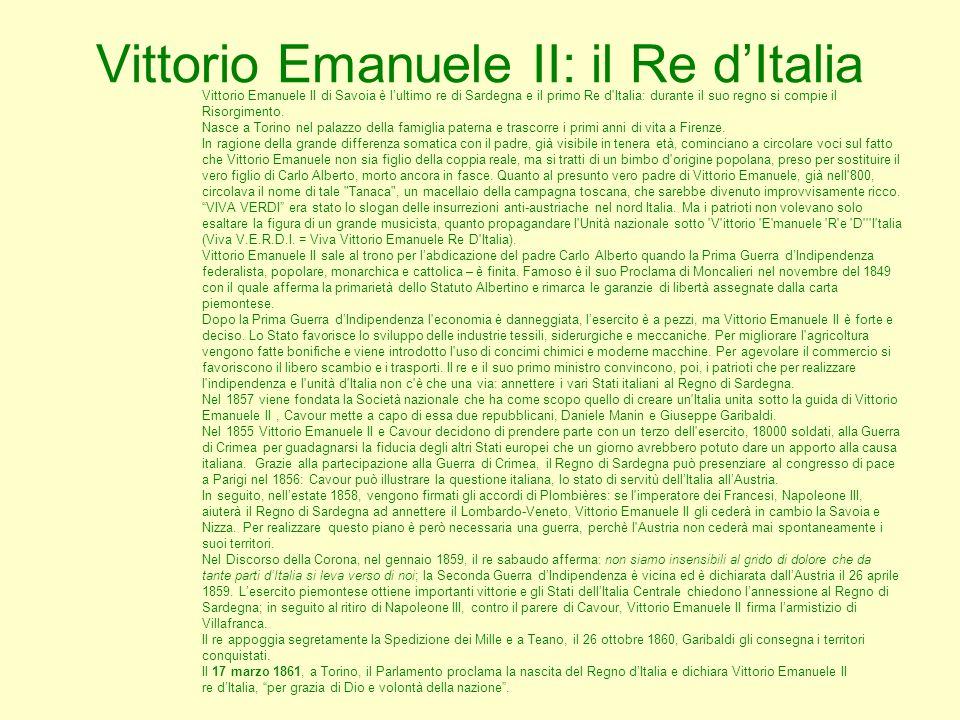 Vittorio Emanuele II: il Re d'Italia