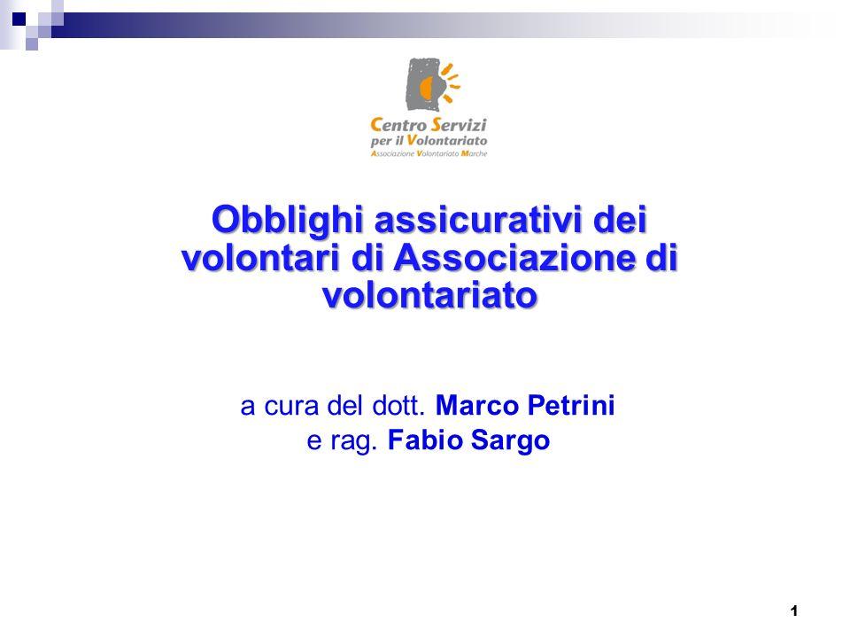 a cura del dott. Marco Petrini e rag. Fabio Sargo