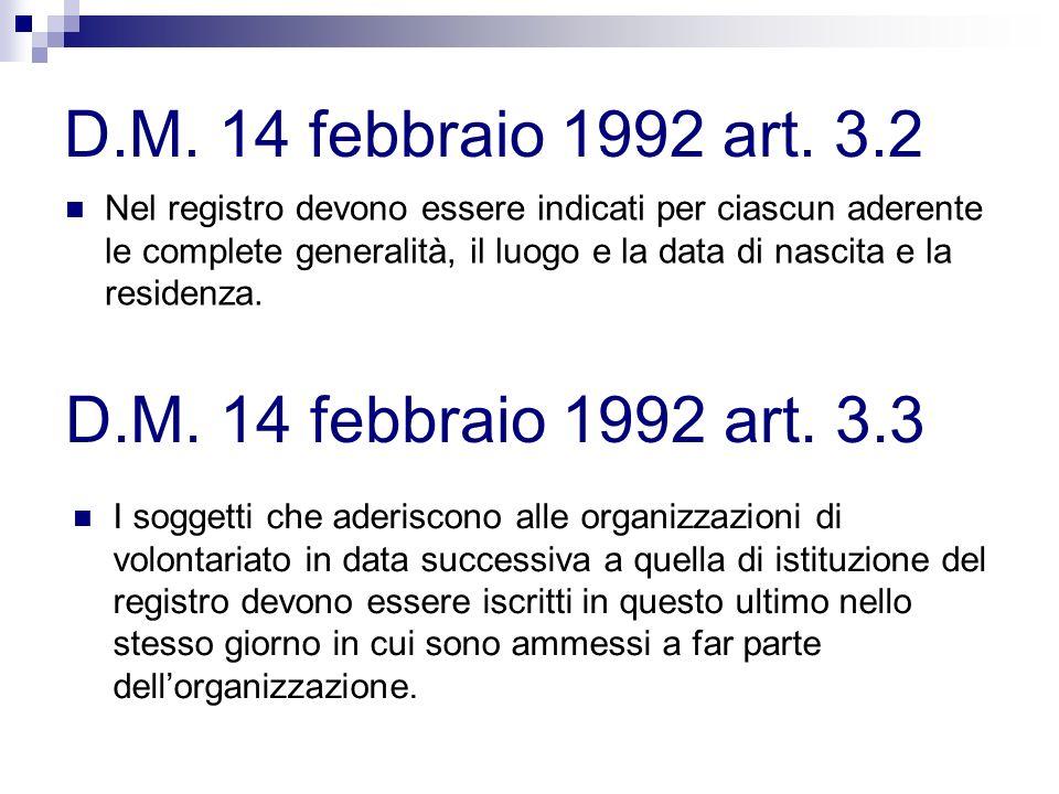 D.M. 14 febbraio 1992 art. 3.2 D.M. 14 febbraio 1992 art. 3.3
