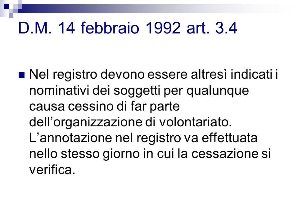 D.M. 14 febbraio 1992 art. 3.4