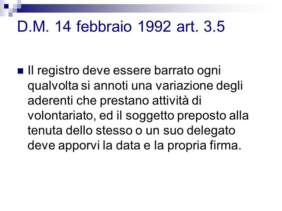 D.M. 14 febbraio 1992 art. 3.5