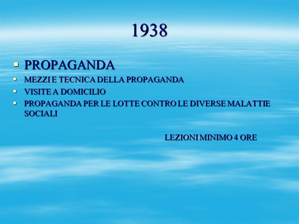 1938 PROPAGANDA MEZZI E TECNICA DELLA PROPAGANDA VISITE A DOMICILIO