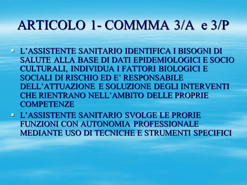 ARTICOLO 1- COMMMA 3/A e 3/P