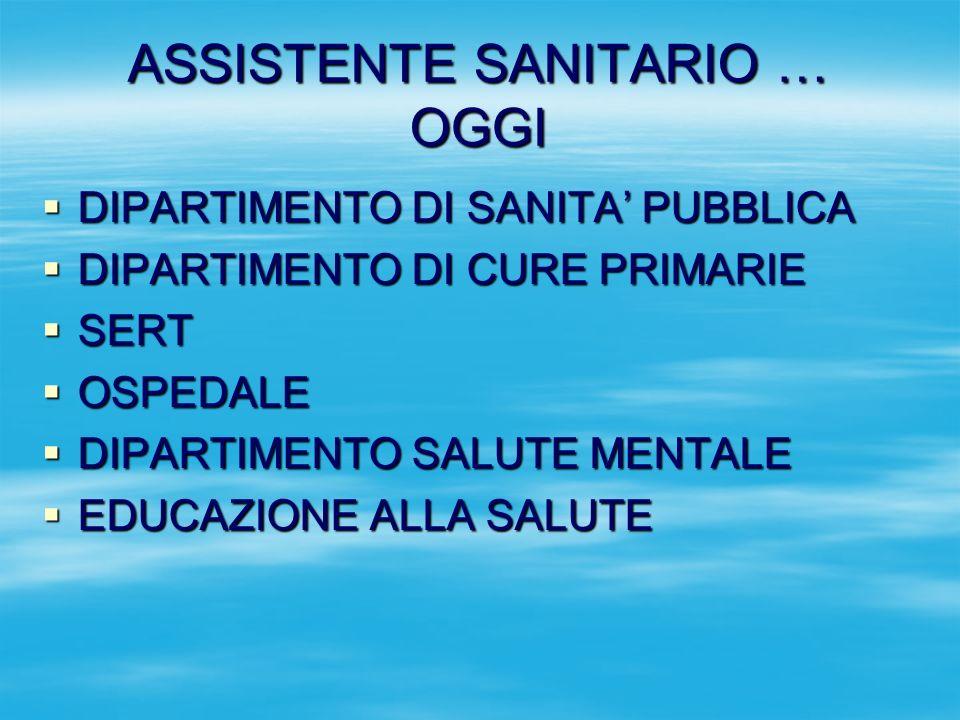 ASSISTENTE SANITARIO … OGGI
