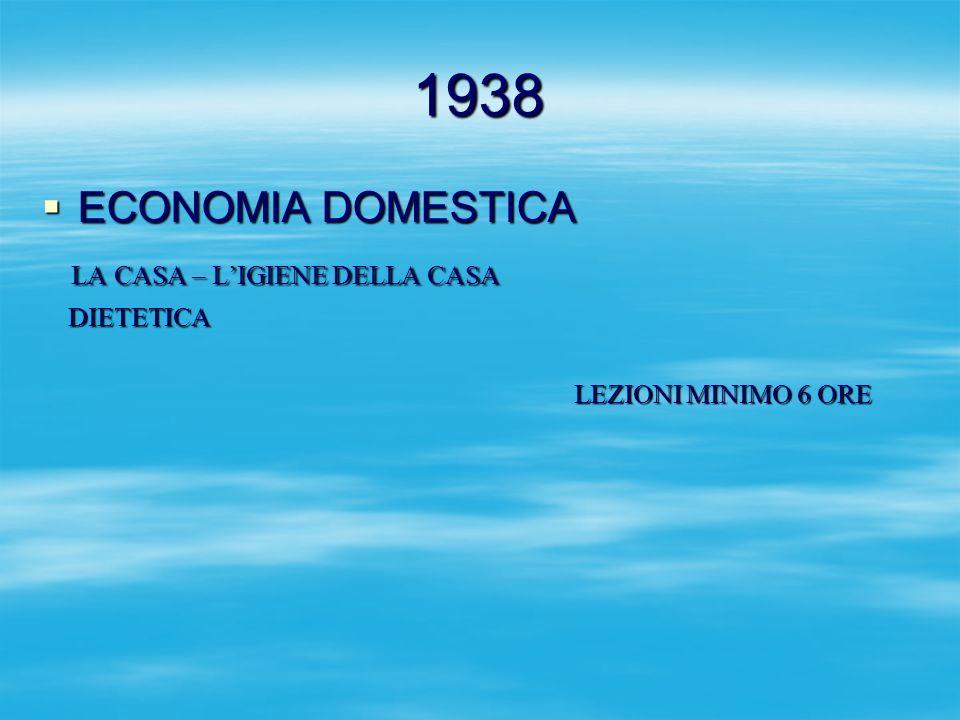 1938 ECONOMIA DOMESTICA LA CASA – L'IGIENE DELLA CASA DIETETICA