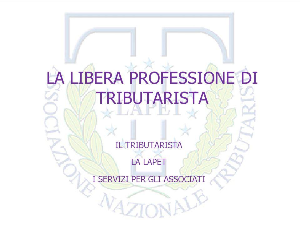 LA LIBERA PROFESSIONE DI TRIBUTARISTA