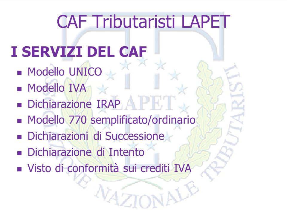 CAF Tributaristi LAPET