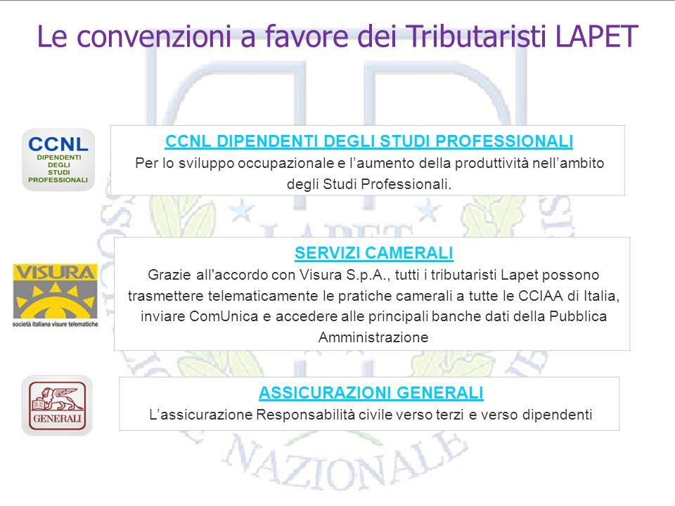 Le convenzioni a favore dei Tributaristi LAPET