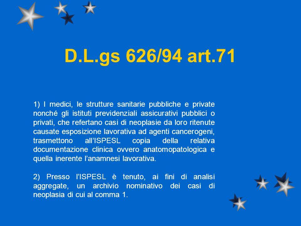 D.L.gs 626/94 art.71
