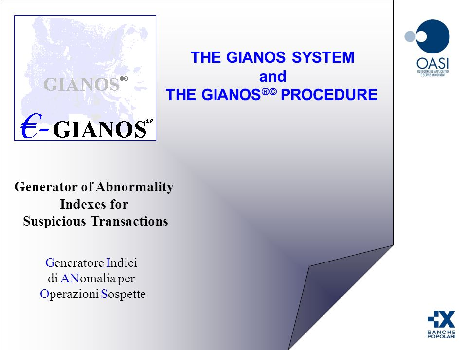 THE GIANOS SYSTEM and THE GIANOS®© PROCEDURE