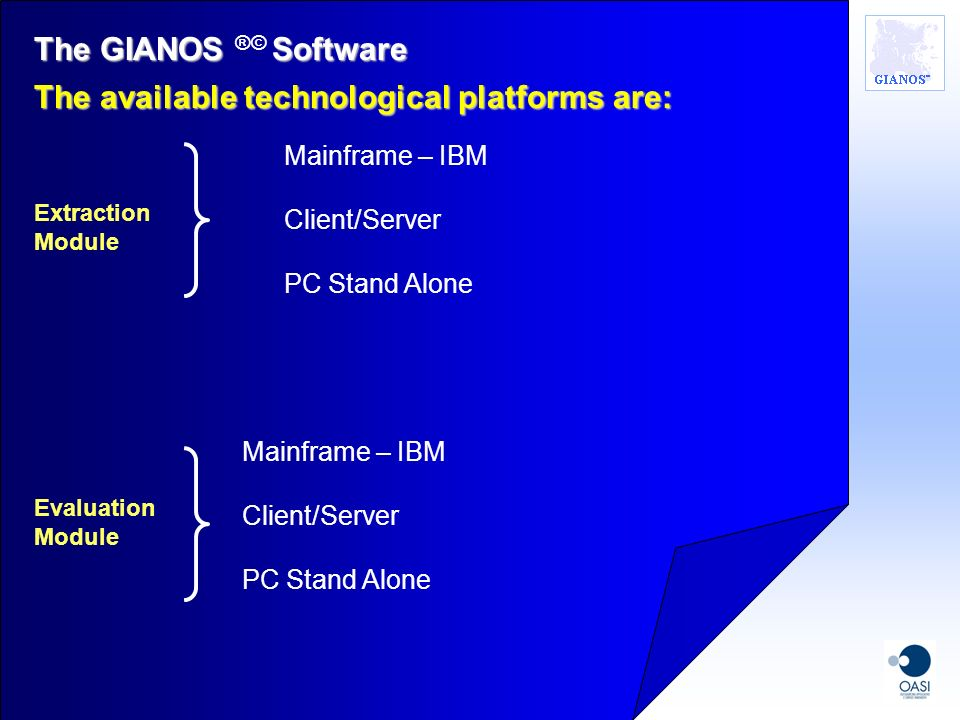 The available technological platforms are: