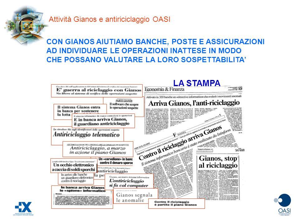LA STAMPA Attività Gianos e antiriciclaggio OASI