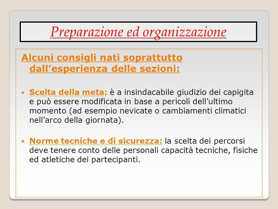 Preparazione ed organizzazione