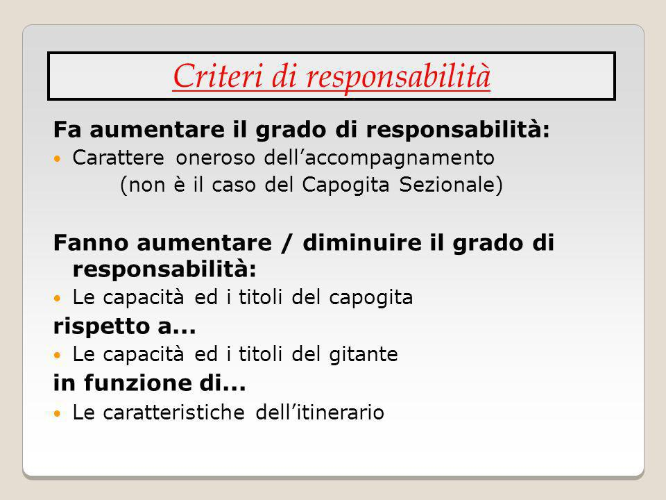 Criteri di responsabilità