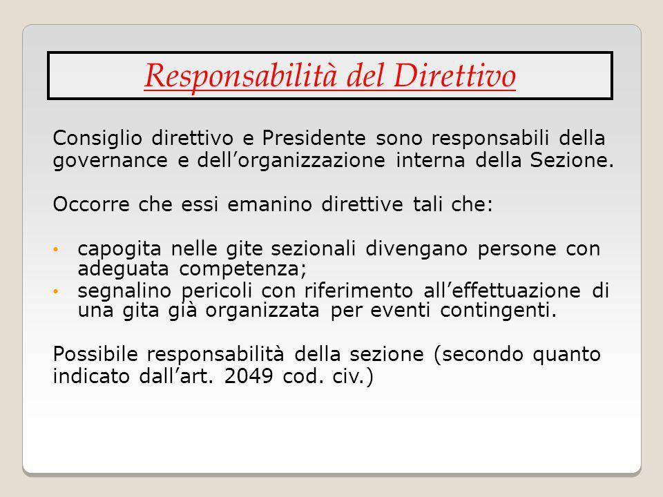 Responsabilità del Direttivo