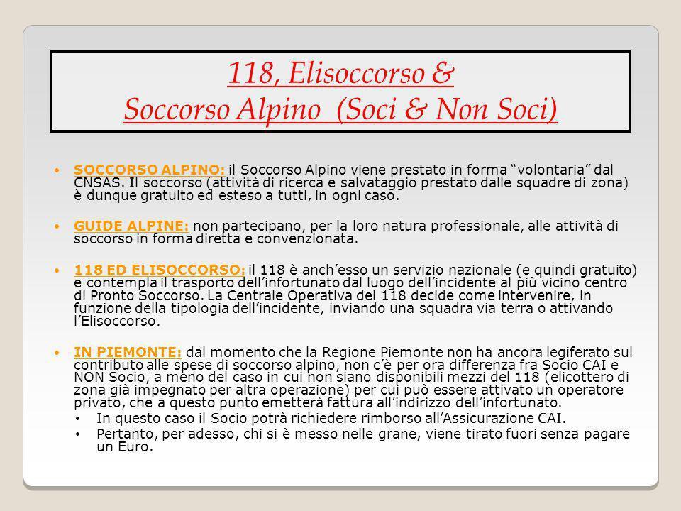 Soccorso Alpino (Soci & Non Soci)
