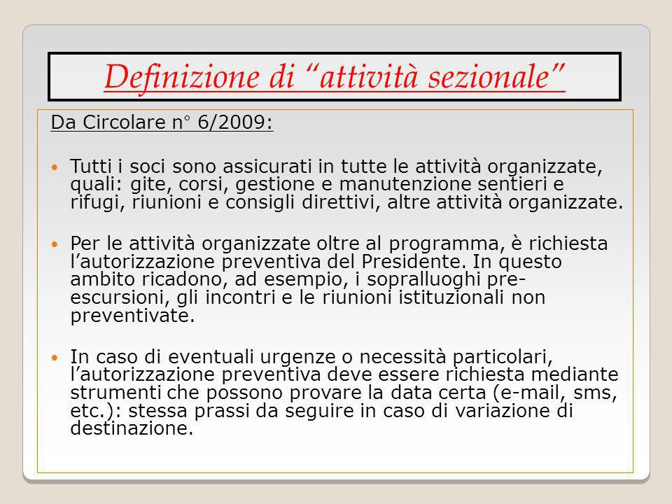 Definizione di attività sezionale