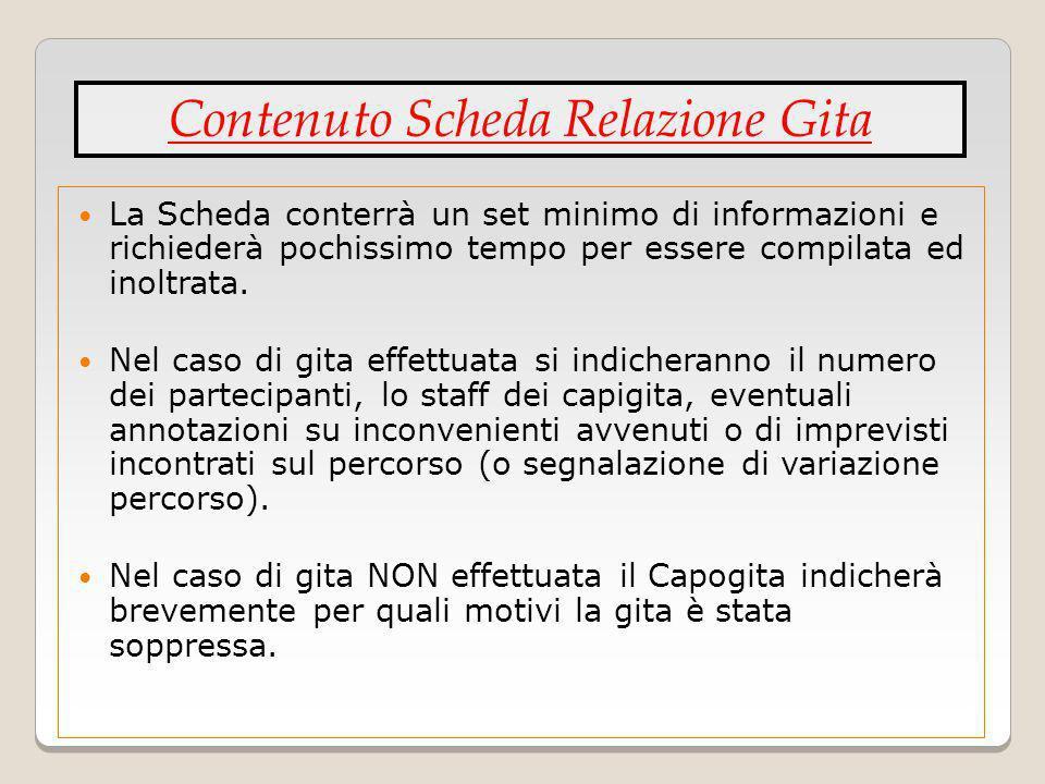 Contenuto Scheda Relazione Gita