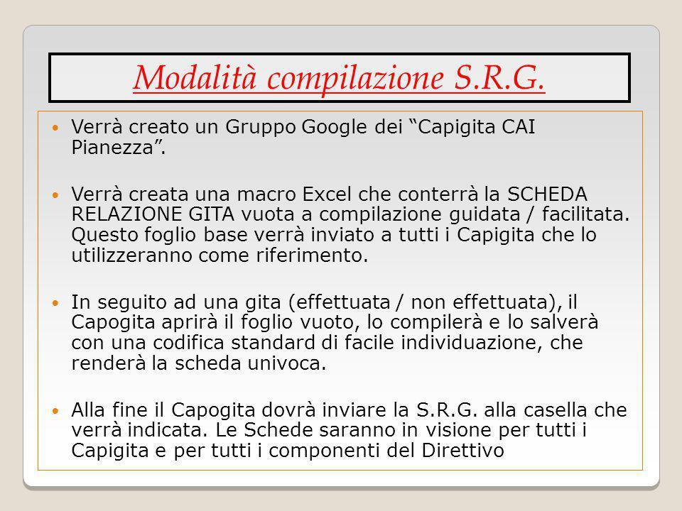 Modalità compilazione S.R.G.
