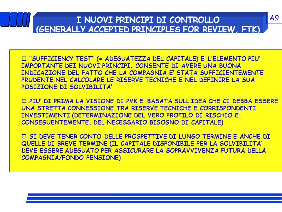 A9 I NUOVI PRINCIPI DI CONTROLLO (GENERALLY ACCEPTED PRINCIPLES FOR REVIEW, FTK)