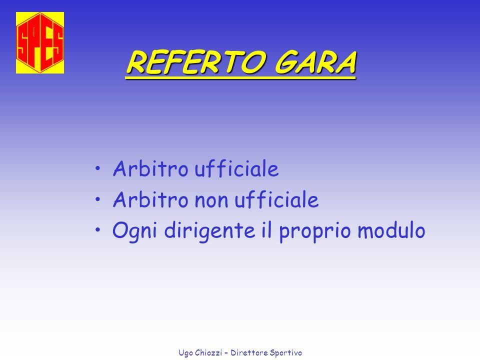 REFERTO GARA Arbitro ufficiale Arbitro non ufficiale