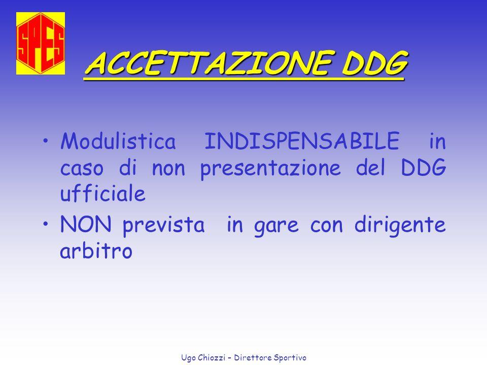 ACCETTAZIONE DDG Modulistica INDISPENSABILE in caso di non presentazione del DDG ufficiale.