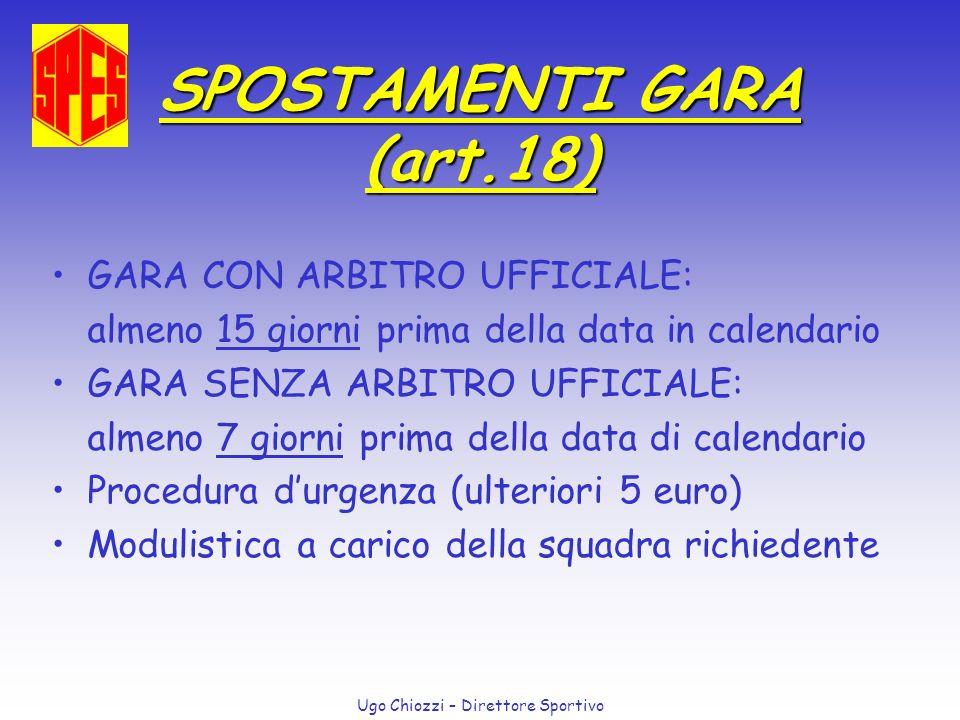 SPOSTAMENTI GARA (art.18)